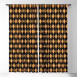 Yellow & Black Diamond shaped Geometric Design Blackout Curtain