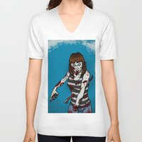 dana scully V-neck T-shirts featuring Dana by ZOMBIFIED