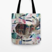 kandinsky Tote Bags featuring whale in reassembled Kandinsky by Osome Beamer