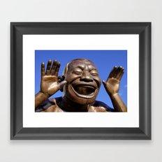 Yue Minjun Laughing men 1 Framed Art Print