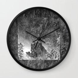 Rocks in the falls Wall Clock