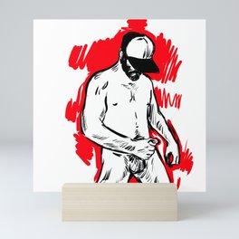 Sexy guy Mini Art Print