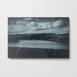 Cityscape Möhne From Reservoir Barrage Wall 2 dark Metal Print