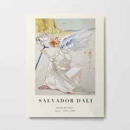Poster-Salvador Dali-Helen of Troy. Metal Print