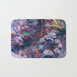 succulent rose Bath Mat