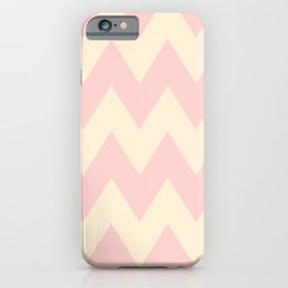 Fat Chevron (Coral & Yellow) iPhone Case