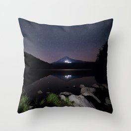 A Trillium Night Throw Pillow