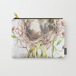 Butterflies' home Watercolor Surreal Art Nepenthes Carry-All Pouch