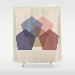 Rose Five Shower Curtain