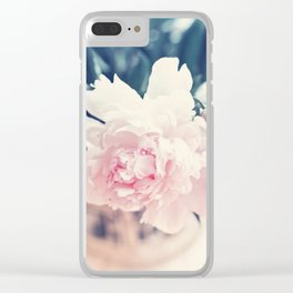 Beautiful Peony Flower Art Clear iPhone Case