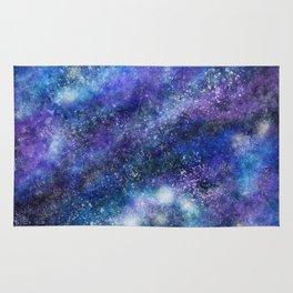 Blue Space Galaxy Rug