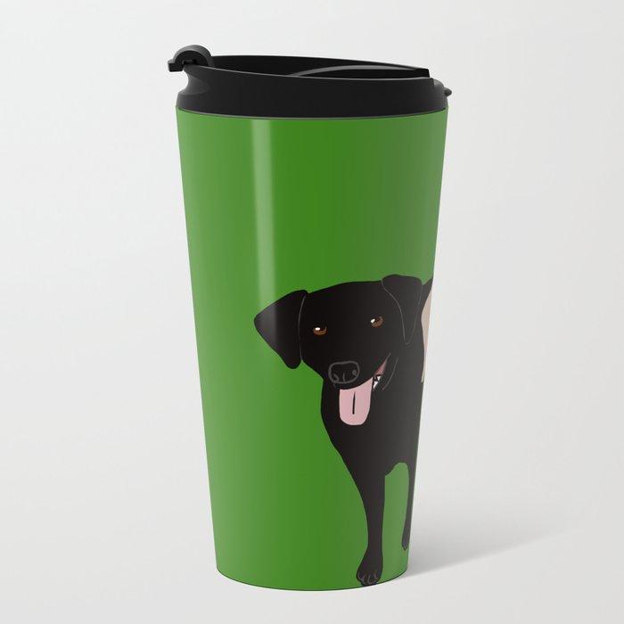Tanner and Lily Best Labrador Buddies Metal Travel Mug