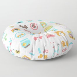 CUTE VET / VETERINARIAN PATTERN Floor Pillow