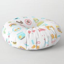 CUTE VET / VETERINARIAN PATTERN Floor Pillow