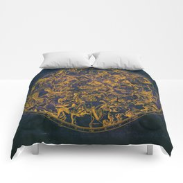 Vintage Constellations & Astrological Signs | Purple Galaxy Comforters