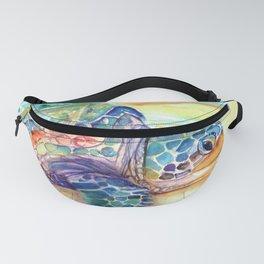 Rainbow Sea Turtle 2 Fanny Pack