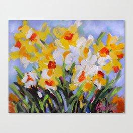 Daffodil Tangle Canvas Print