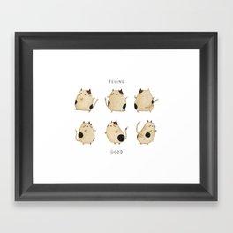 Feline good! Framed Art Print