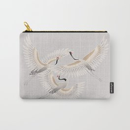 traditional Japanese cranes bright illustration Carry-All Pouch
