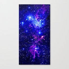 Fox Fur Nebula Galaxy blue purple Canvas Print