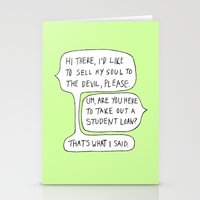 college Stationery Cards featuring college by s t i n g s