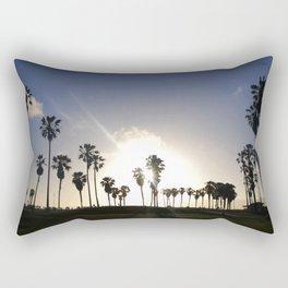 Sunset in Venice Beach Rectangular Pillow
