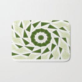 Green White Kaleidoscope Art 3 Bath Mat