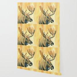 Moose Watercolor Wallpaper