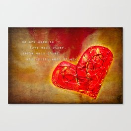 we are here to love Canvas Print