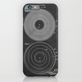 Phonograph Record Vintage Patent iPhone Case
