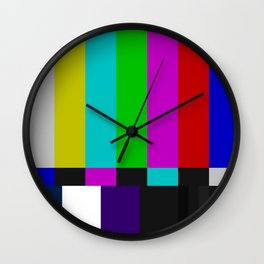 SMPTE Color Bars (as seen on TV) Wall Clock