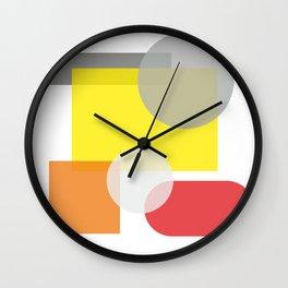 Tech geometric colorful Background #society6 #decor #buyart #artprint Wall Clock