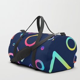 Rainbow Gradient Shapes Duffle Bag