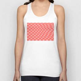 Hearts pattern and stereogram - See the hidden 3D image! Unisex Tank Top