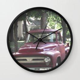 Red Truck Wall Clock