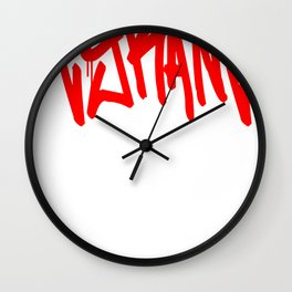 """TYRANT """"Mop"""" Wall Clock"""
