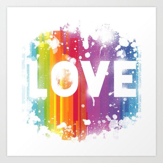 For Love - White Background Art Print