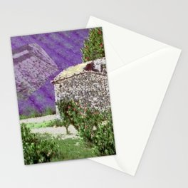 Little farm in the Provence with lavender Stationery Cards