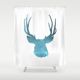Deer head and stag simple illustration Shower Curtain