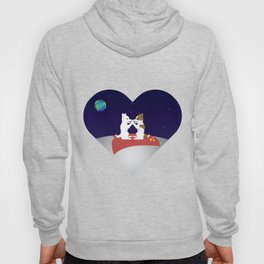 Belka and Strelka on the moon Hoody