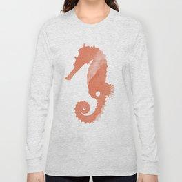 Watercolor Seahorse Long Sleeve T-shirt