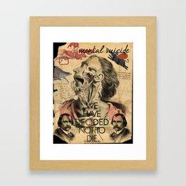 Mental Suicide Framed Art Print