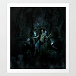 Goddess Lilith Art Print