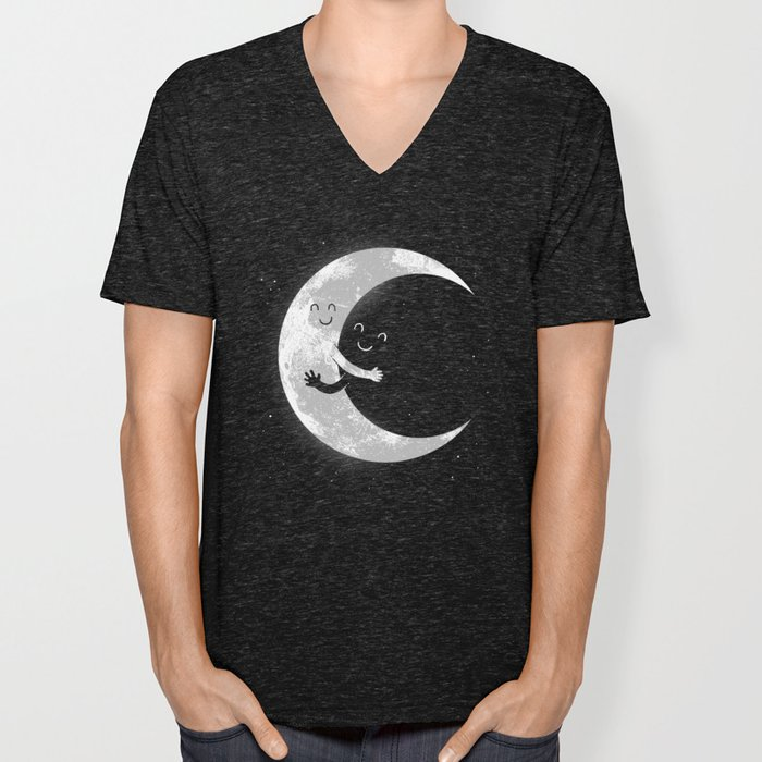 Moon Hug Unisex V-Neck
