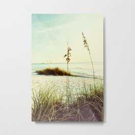 Beach Grass Metal Print
