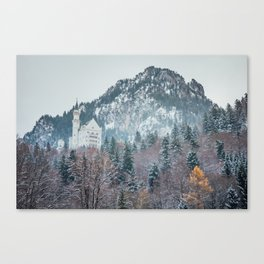 Neuschwanstein Castle with Bavarian Alps in background Canvas Print