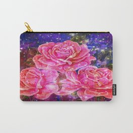 Roses with sparkles and purple infusion Carry-All Pouch