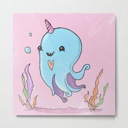 Little baby octopus Metal Print