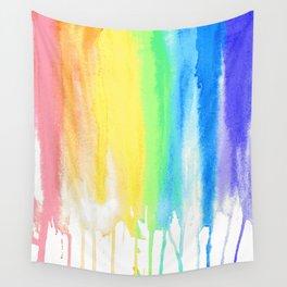 Rainbow Watercolor Drip Wall Tapestry