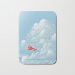 Porco Rosso flying Bath Mat